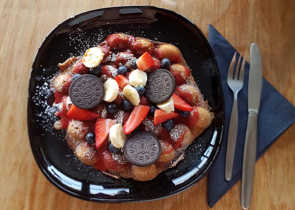 Vegane Waffeln bei MooN Coffee & Waffle